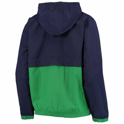 アンダーアーマー UNDER ARMOUR レディース 紺 ネイビー WOMEN'SNAVY UNDER ARMOUR NOTRE DAME FIGHTING IRISH CRINKLE ANORAK HALFZIP PULLOVER JACKETyvN8nwm0OP