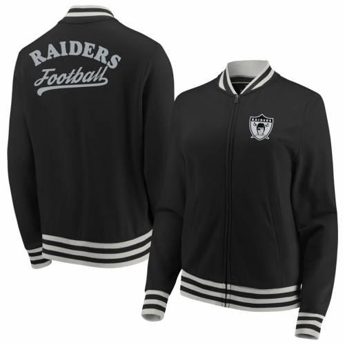 NFL PRO LINE BY FANATICS BRANDED レイダース レディース ストレングス トラック 黒 ブラック 【 Las Vegas Raiders Fanatics Branded Womens Legendary Strength Full-zip Track Jacket - Black 】 Black