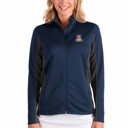 ANTIGUA アリゾナ レディース 【 Arizona Wildcats Womens Passage Full-zip Jacket - Navy/charcoal 】 Navy/charcoal