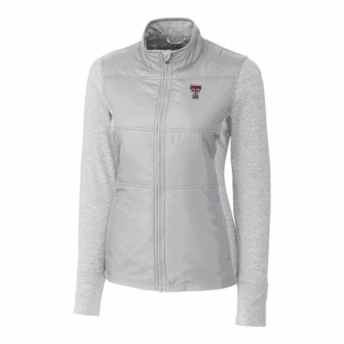 CUTTER & BUCK テキサス テック 赤 レッド レイダース レディース ステルス 灰色 グレー グレイ 【 Texas Tech Red Raiders Cutter And Buck Womens Stealth Full-zip Jacket - Gray 】 Gray
