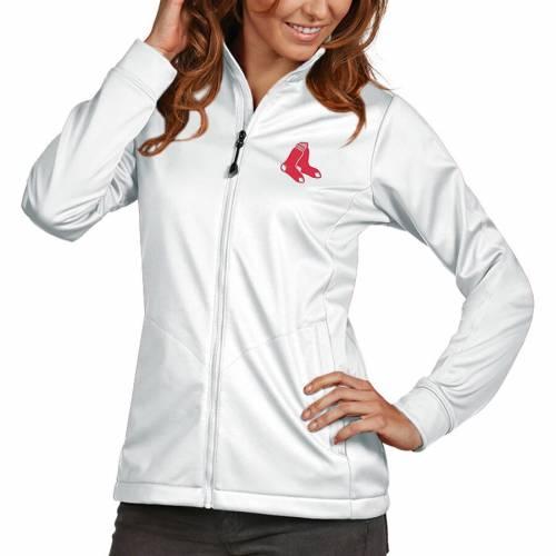 ANTIGUA ボストン レディース ゴルフ 赤 レッド 白 ホワイトWOMEN'SGOLF RED WHITE ANTIGUA BOSTON SOX FULLZIP JACKETwN0nOvm8