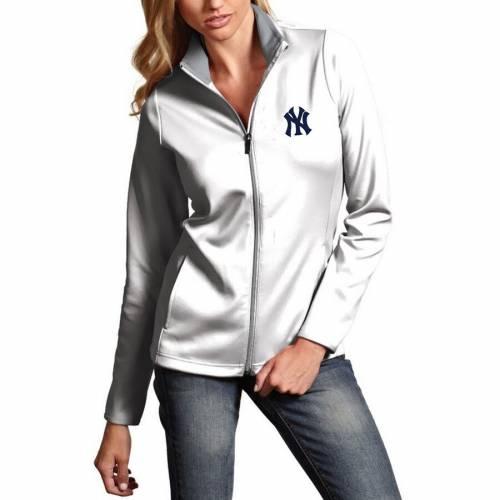 ANTIGUA ヤンキース レディース 紺 ネイビー 【 New York Yankees Womens Leader Full-zip Jacket - Navy 】 White