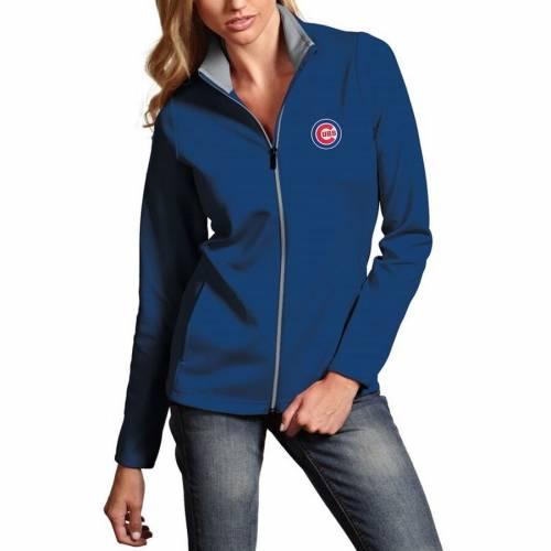 ANTIGUA シカゴ カブス レディース 【 Chicago Cubs Womens Leader Full-zip Jacket - Royal 】 Royal