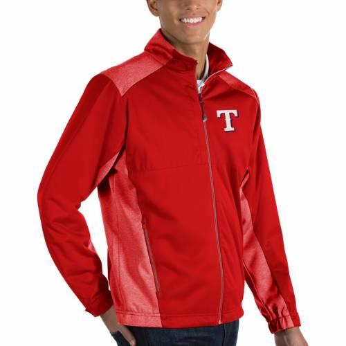 ANTIGUA テキサス レンジャーズ 赤 レッド メンズファッション コート ジャケット メンズ 【 Texas Rangers Revolve Full-zip Jacket - Red 】 Red