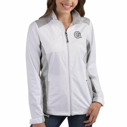 ANTIGUA ジョージタウン レディース 【 Georgetown Hoyas Womens Revolve Full-zip Jacket 】 White