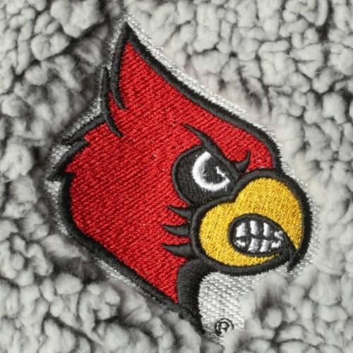 BOXERCRAFT ルイビル カーディナルス レディース 灰色 グレー グレイ 【 Louisville Cardinals Womens Sherpa Super Soft Quarter Zip Pullover Jacket - Gray 】 Gray
