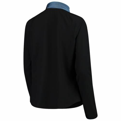 ダラスカウボーイズ DALLAS COWBOYS MERCHANDISE ダラス カウボーイズ レディース ジャケット 黒色 ブラック WOMEN'S プルオーバージャケット  【 MERCHANDISE DANNY HALFZIP BLACK 】