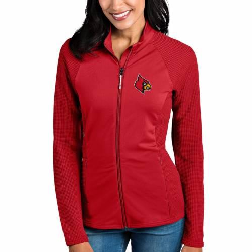 ANTIGUA ルイビル カーディナルス レディース 赤 レッド 【 Louisville Cardinals Womens Sonar Full-zip Jacket - Red 】 Red
