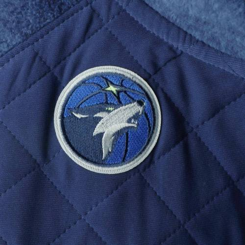 GAMEDAY COUTURE ミネソタ ティンバーウルブズ レディース 紺 ネイビー 【 Minnesota Timberwolves Womens Sidenote Quilted Snap-up Pullover Jacket - Navy 】 Navy