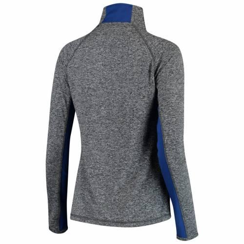 FANATICS BRANDED レディース 【 Tampa Bay Lightning Womens Static Quarter-zip Pullover Jacket - Heathered Gray/blue 】 Heathered Gray/blue