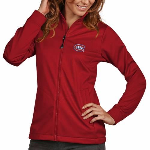 ANTIGUA レディース ゴルフ 紺 ネイビー 【 Montreal Canadiens Womens Golf Full Zip Jacket - Navy 】 Red