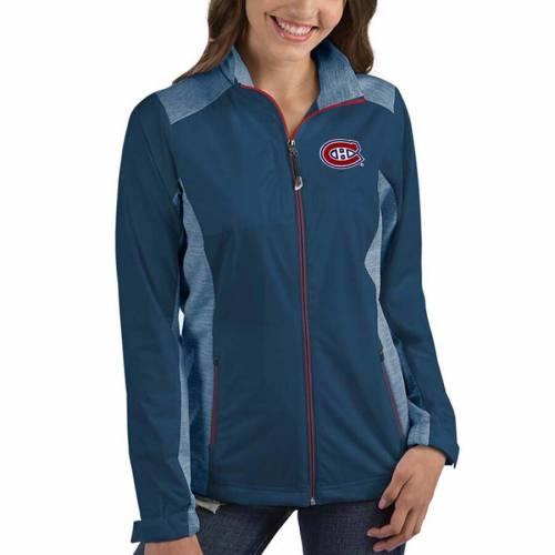 ANTIGUA レディース 紺 ネイビー 【 Montreal Canadiens Womens Revolve Full-zip Jacket - Navy 】 Navy