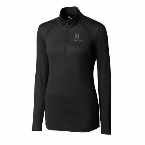 CUTTER & BUCK レディース 【 Tpc Twin Cities Cutter And Buck Womens Williams Half-zip Pullover Jacket 】 Black