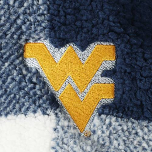 BOXERCRAFT バージニア レディース 【 West Virginia Mountaineers Womens Plaid Sherpa Quarter-zip Pullover Jacket - Navy/white 】 Navy/white
