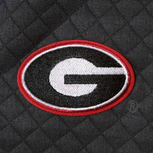 GAMEDAY COUTURE レディース チャコール 【 Georgia Bulldogs Womens Out Of Your League Quilted Quarter-snap Pullover Jacket - Charcoal 】 Charcoal
