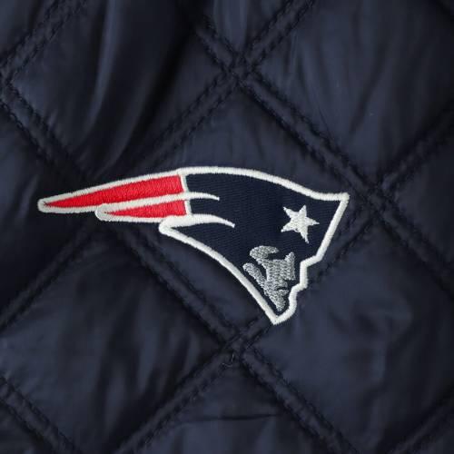 【スーパーセール中! 6/11深夜2時迄】G-III 4HER BY CARL BANKS ペイトリオッツ レディース 紺 ネイビー 【 New England Patriots Womens Goal Line Quilted Bomber Full-zip Jacket - Navy 】 Navy