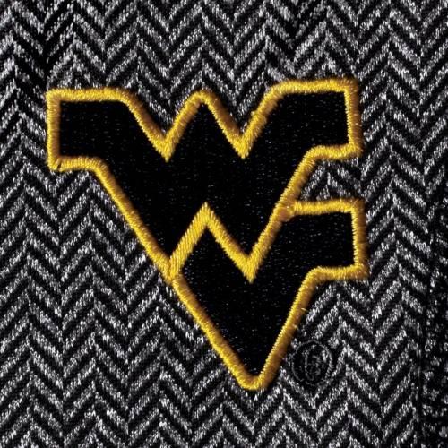 COLOSSEUM バージニア レディース チャコール 【 West Virginia Mountaineers Womens Herringbone Print Quarter-zip Pullover Jacket - Charcoal 】 Charcoal