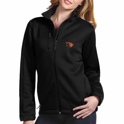 ANTIGUA オレゴン スケートボード レディース 黒 ブラック 【 Oregon State Beavers Womens Traverse Full-zip Jacket - Black 】 Black