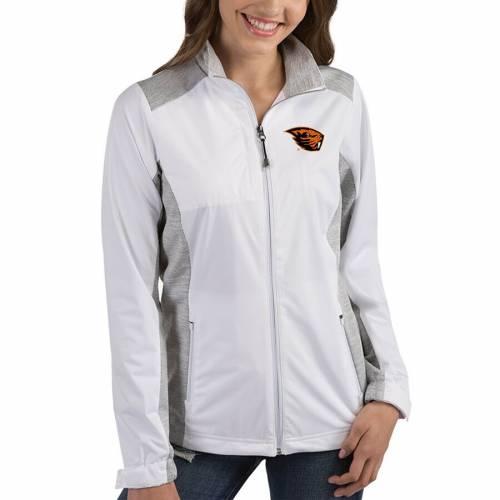 ANTIGUA オレゴン スケートボード レディース 【 Oregon State Beavers Womens Revolve Full-zip Jacket 】 White