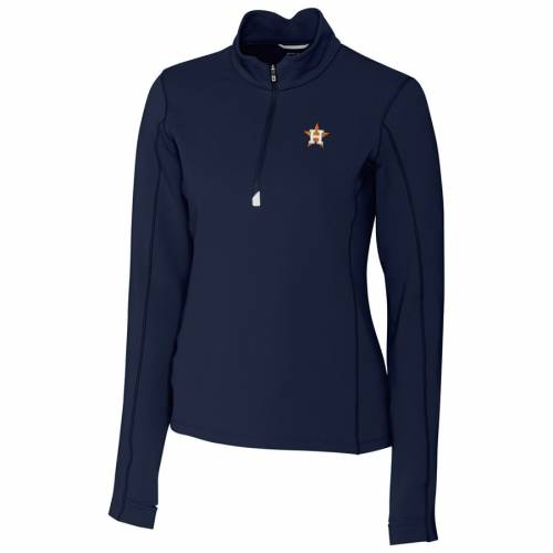 CUTTER & BUCK ヒューストン アストロズ レディース 紺 ネイビー 【 Houston Astros Cutter And Buck Womens Traverse Half-zip Pullover Jacket - Navy 】 Navy