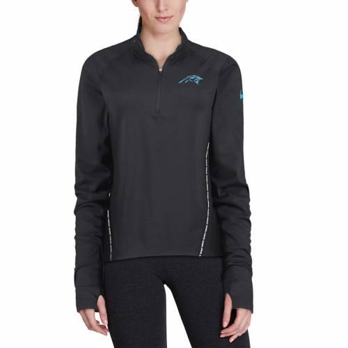 ナイキ NIKE カロライナ パンサーズ レディース コア 黒 ブラック 【 Carolina Panthers Womens Core Half-zip Pullover Jacket - Black 】 Black