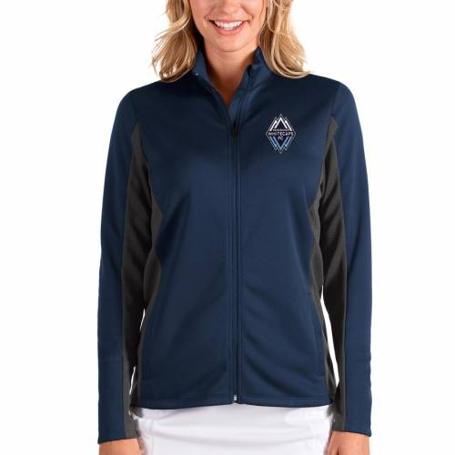 ANTIGUA レディース ディープ 灰色 グレー グレイ 【 Vancouver Whitecaps Fc Womens Passage Full-zip Jacket - Deep Sea Blue/heather Gray 】 Deep Sea Blue/heather Gray