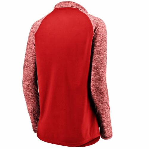 【スーパーセール中! 6/11深夜2時迄】FANATICS BRANDED ワシントン ウィザーズ レディース パフォーマンス ラグラン スリーブ 赤 レッド 【 Washington Wizards Womens Made To Move Static Performance Raglan Sleeve Quarter-zip Pullover Jacket - Red/heathered R