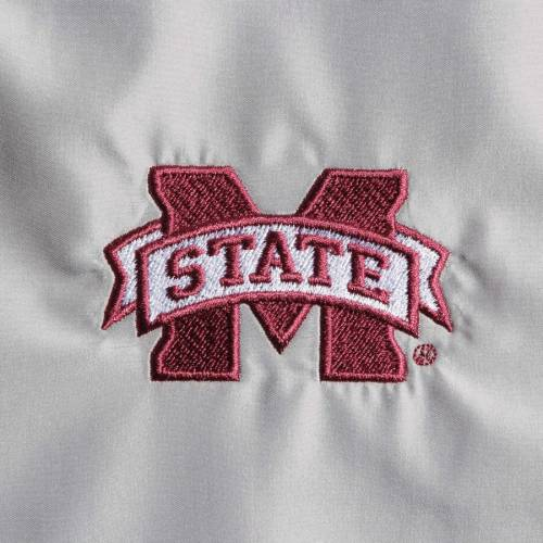 BOXERCRAFT スケートボード レディース 【 Mississippi State Bulldogs Womens Colorblock Anorak Quarter-zip Pullover Jacket - Gray/white 】 Gray/white