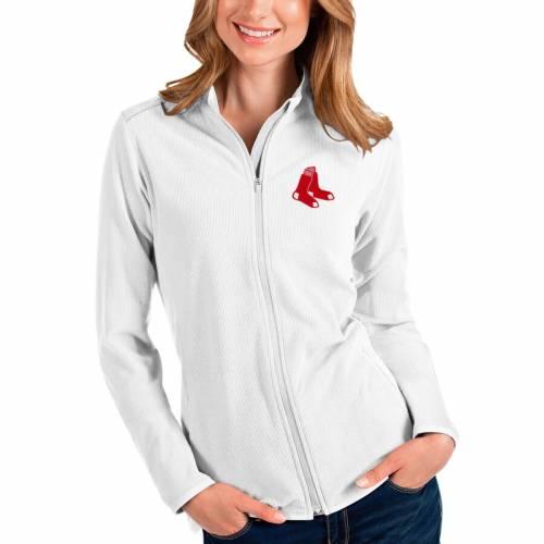 ANTIGUA ボストン 赤 レッド レディース 紺 ネイビー 【 Boston Red Sox Womens Glacier Full-zip Jacket - Navy 】 White