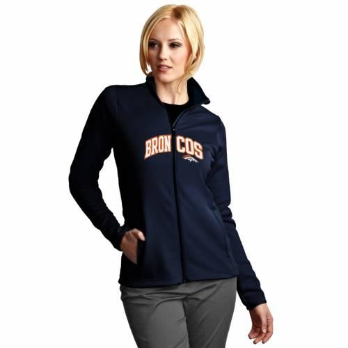 ANTIGUA デンバー ブロンコス レディース グラフィック 紺 ネイビー 【 Denver Broncos Womens Leader Full Chest Graphic Desert Dry Full-zip Jacket - Navy 】 Navy