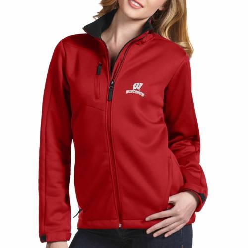 【スーパーセール中! 6/11深夜2時迄】ANTIGUA ウィスコンシン レディース 赤 レッド 【 Wisconsin Badgers Womens Traverse Full-zip Jacket - Red 】 Red