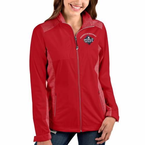 ANTIGUA ワシントン ナショナルズ レディース シリーズ 赤 レッド 【 Washington Nationals Womens 2019 World Series Bound Revolve Full-zip Jacket - Red/heather Red 】 Red/heather Red