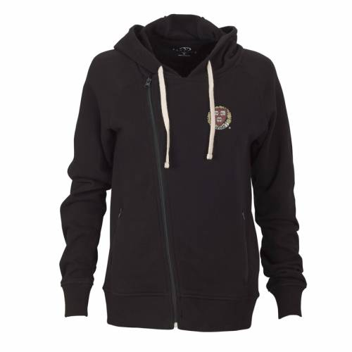 VANTAGE APPAREL ハーバード レディース フリース 黒 ブラック 【 Harvard Crimson Womens Fleece Moto Jacket - Black 】 Black