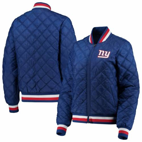 G-III 4HER BY CARL BANKS ジャイアンツ レディース 【 New York Giants Womens Goal Line Quilted Bomber Full-zip Jacket - Royal 】 Royal