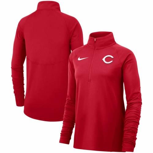 ナイキ NIKE シンシナティ レッズ レディース チーム コア ラグラン 赤 レッド 【 Cincinnati Reds Womens Team Core Half-zip Raglan Pullover Jacket - Red 】 Red