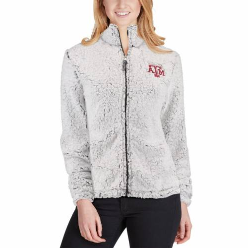 BOXERCRAFT テキサス レディース クリーム 【 Texas Aandm Aggies Womens Sherpa Full-zip Jacket - Cream 】 Heather Gray