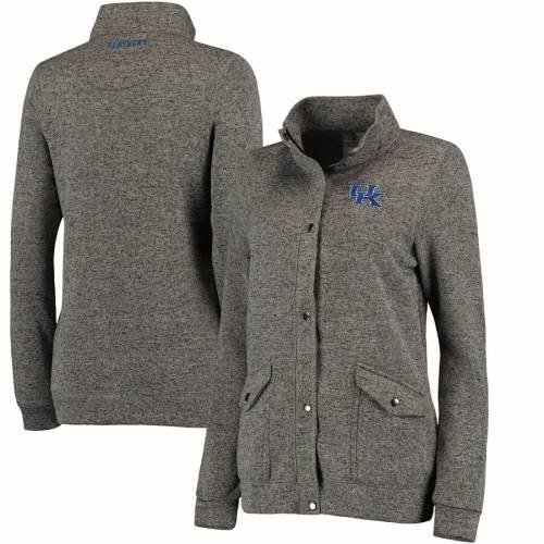 COLOSSEUM ケンタッキー レディース チャコール 【 Kentucky Wildcats Womens Flyaway Full-zip Jacket - Charcoal 】 Charcoal