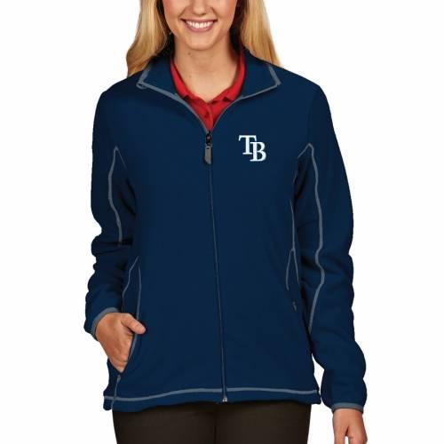 ANTIGUA レイズ レディース 紺 ネイビー 【 Tampa Bay Rays Womens Full Zip Ice Jacket - Navy 】 Navy