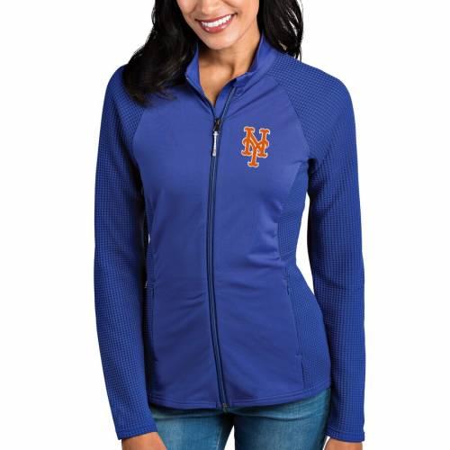 ANTIGUA メッツ レディース 【 New York Mets Womens Sonar Full-zip Jacket - Royal 】 Royal