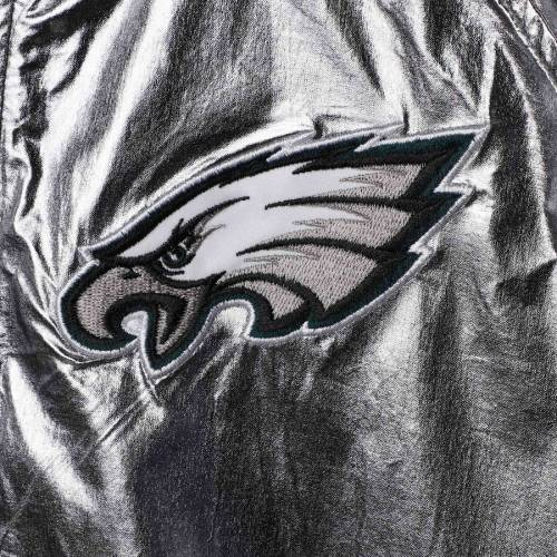 G-III 4HER BY CARL BANKS フィラデルフィア イーグルス レディース スクリメージ 【 Philadelphia Eagles Womens Scrimmage Full-zip Jacket - Pewter 】 Pewter