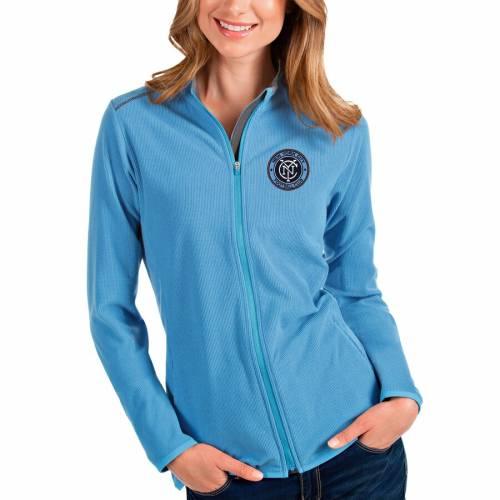 【スーパーセール中! 6/11深夜2時迄】ANTIGUA シティ レディース 【 New York City Fc Womens Glacier Full-zip Jacket 】 Blue