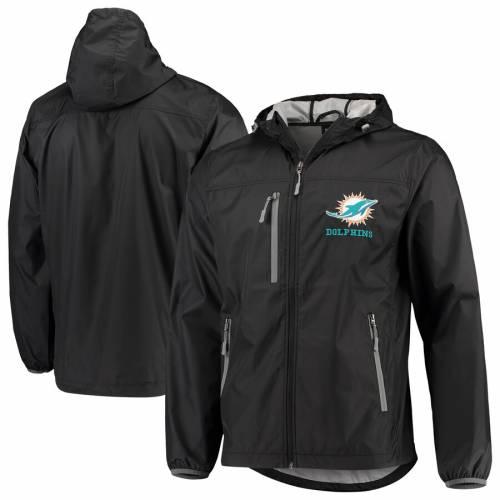 G-III SPORTS BY CARL BANKS マイアミ ドルフィンズ 黒 ブラック メンズファッション コート ジャケット メンズ 【 Miami Dolphins Double Play Full-zip Jacket - Black 】 Black