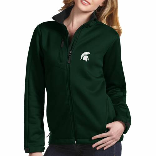 ANTIGUA ミシガン スケートボード レディース 緑 グリーン 【 Michigan State Spartans Womens Traverse Full-zip Jacket - Green 】 Green