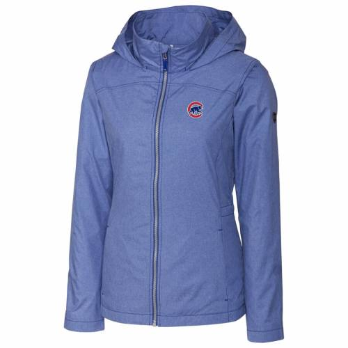 CUTTER & BUCK シカゴ カブス レディース ヘザー 【 Chicago Cubs Cutter And Buck Womens Panoramic Packable Full-zip Jacket - Heather Royal 】 Heather Royal