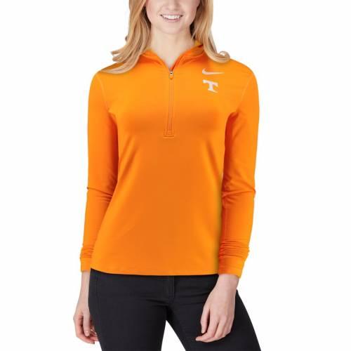 ナイキ NIKE テネシー レディース パフォーマンス 橙 オレンジ 【 Tennessee Volunteers Womens Top Backprint Half-zip Pullover Performance Jacket - Tennessee Orange 】 Tennessee Orange