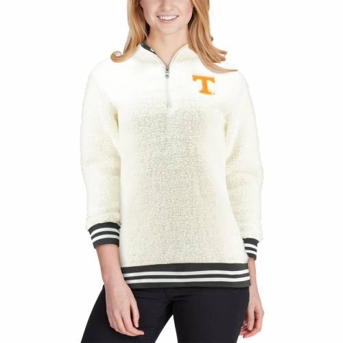 BOXERCRAFT テネシー レディース 【 Tennessee Volunteers Womens Varsity Banded Sherpa Quarter-zip Pullover Jacket 】 Cream