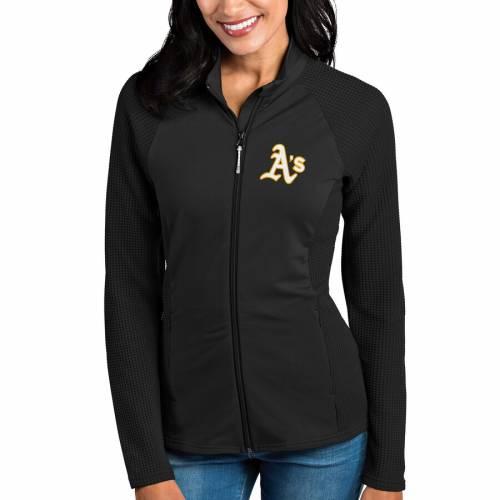 ANTIGUA オークランド レディース 黒 ブラック 【 Oakland Athletics Womens Sonar Full-zip Jacket - Black 】 Black