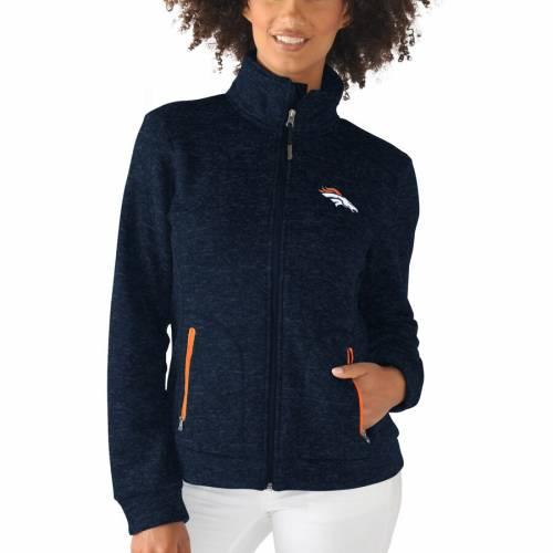G-III 4HER BY CARL BANKS デンバー ブロンコス レディース 紺 ネイビー 【 Denver Broncos Womens Checkpoint Full Zip Jacket - Navy 】 Navy