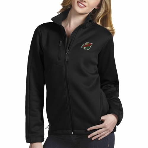 ANTIGUA ミネソタ ワイルド レディース 黒 ブラック 【 Minnesota Wild Womens Traverse Full-zip Jacket - Black 】 Black