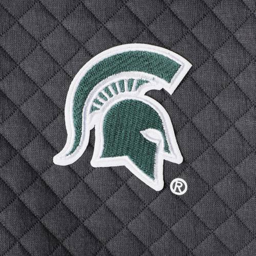 GAMEDAY COUTURE ミシガン スケートボード レディース チャコール 【 Michigan State Spartans Womens Out Of Your League Quilted Quarter-snap Pullover Jacket - Charcoal 】 Charcoal